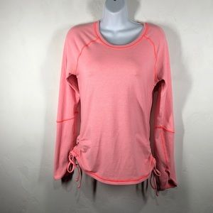 Lucy strip pink long sleeve tee size small